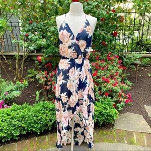LAVENDER AND BROWN WILLA FLORAL MAXI DRESS